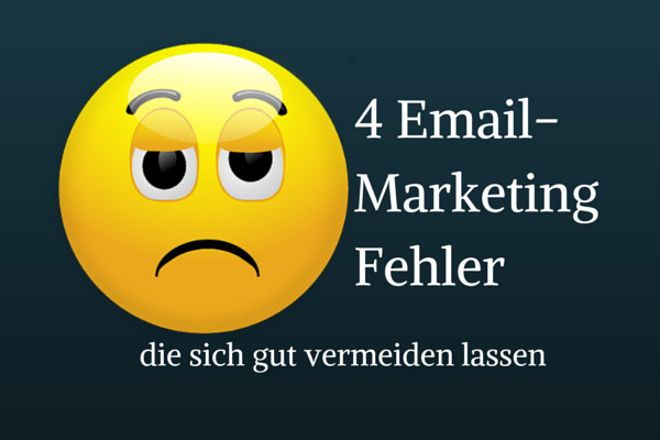 Email Marketing Fehler