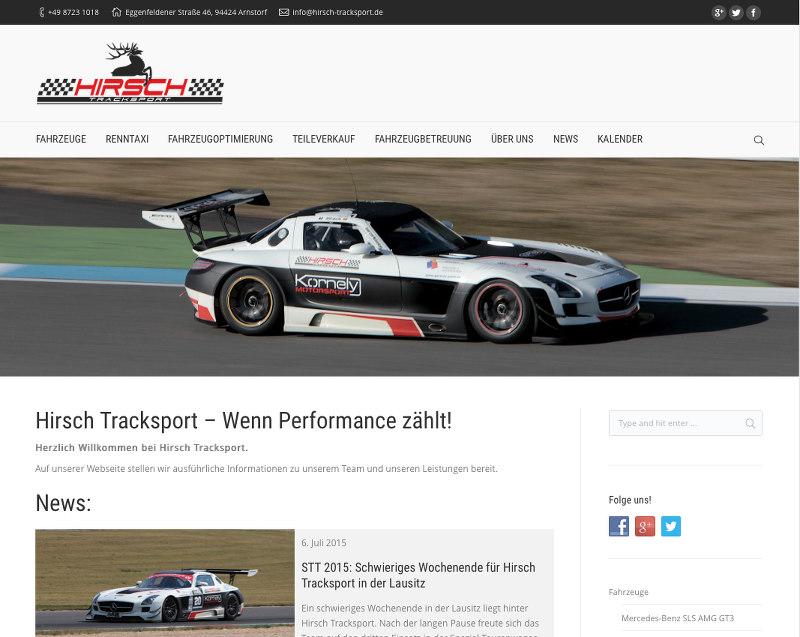 Hirsch-Tracksport-Screenshot