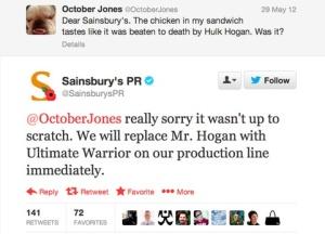Sainsbury Kritik Antwort