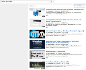 Youtube-Suche-Wordpress-Tutorial